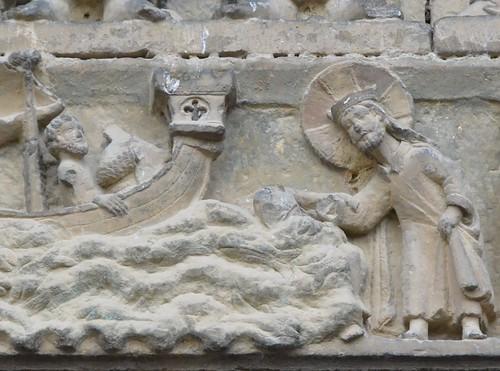 Olite (Navarre), San Pedro - sculpture romane - 10