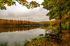 Autumn reflections on Lake Plumbago (Cole Chase Photography) Tags: autumn fall canon reflections october michigan 5d upperpeninsula fallenleaves markiii albertamichigan