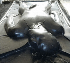 (Jess_McClure) Tags: black fetish shiny bondage rubber latex tight vacbed breathplay