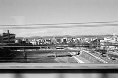 Shinkansen - Hiroshima to Tokyo (MCorrigan1983) Tags: bw japan train nikon bullet nikkor shinkansen kodaktmax400 nikonf6 2015 nikkor50mmf18d 400tmx