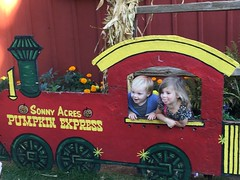 """Paul and Inde in the Sonny Acres Pumpkin Express • <a style=""""font-size:0.8em;"""" href=""""http://www.flickr.com/photos/109120354@N07/23224631255/"""" target=""""_blank"""">View on Flickr</a>"""