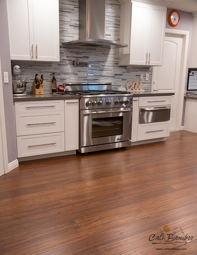 New Kitchen Floor Bamboo Flooring In Kitchen Cali Bamboo Greenshoots Blog