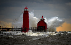 Grand Haven Michigan (paulh192) Tags: lakemichigan grandhaven storm wind explosion sunset dramatic nikon sigma