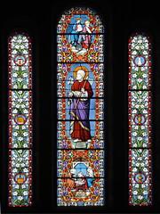 Vitraux (philippe.ducloux) Tags: france church window canon brittany bretagne vitrail glise fentre finistre clocher le vitraux batz ledebatz 450d canon450d strictlygeotagged