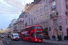 LTZ1448 at Piccadilly Circus (neiljennings51) Tags: regent street lights christmas borismaster wright wrightbus nbfl service 12 bus psv pcv london tfl go ahead central
