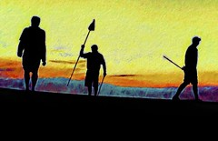 18th hole at sunset (Pejasar) Tags: golf 18thhole sunset golfcourse art silhouette flag golfclub golfers play