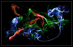 Smoke Series - 004 (J Michael Hamon) Tags: incense smoke color photomanipulation blackbackground photoborder photoart hamon nikon d3200 nikkor 40mm abstract smokeart surreal surrealism
