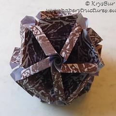 Borders (K16060) (Origami Spirals) Tags: curler paper fold twirl origami burczyk folding art krysbur