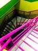 Un joli escalier que j'ai enfin découvert à mon travail ☺ (fourmi_7) Tags: escalier monter descendre travail lille nord hautsdefrance concours examens coloré mauve vert anis marches rampes