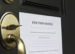 Eviction Notice (olympialawpc01) Tags: access bank bankrupt bankruptcy box brown code combination door doorknob enforcement entrance entry estate eviction foreclosed foreclosure hold home house housing key knob law letter loosing loss mortgage notice notification open owned paper post property real realtor safety sale security set sheriff warning metal yellowbrass