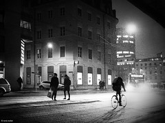Winter is coming (René Mollet) Tags: blackandwhite basel bw monchrom monochromphotographie olympus street streetphotography shadow silhouette snow snowfall renémollet night nightshot
