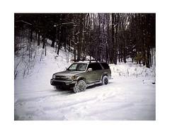 (babireley) Tags: polaroid250 fujifilmfp100c hunting 2000toyota4runner snow winter sunkenbranchroad deer susquehannockstateforest pottercounty pottercountypa pa