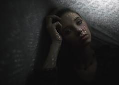 Cait (Bryce France) Tags: dark light canon sigma 35mm digital 5d 5dmk3 14 lighting beauty beautiful women woman girl eyes color tones