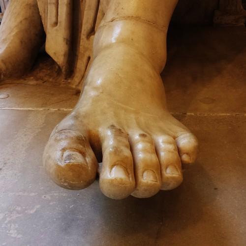 Roman foot. Museo archeologico di Napoli