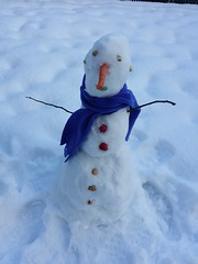Alfred, the snowman . (France-♥) Tags: winter vancouver neige snow bonhommedeneige fun snowman december canada bc cellulaire blanc white cold froid