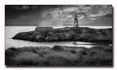 Distant Rain,Llanddwyn Island (jeremy willcocks) Tags: llanddwyn island wales north sea rain mono blackandwhite landscape marker sky clouds nikon d300 jeremywillcocks wwwsouthwestscenesmeuk