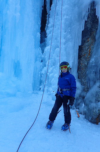 Ice Climbing at la Tsa in Arolla, Wallis