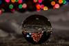 Xmas Tree (mariola aga) Tags: winter xmas xmaslights lights spherecrystalball glass ball xmastree reflection refraction upsidedown bokeh thegalaxy