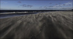 360 - Whispering Beach (North Light) Tags: beach gale wind christmas walk sand findhorn moray scotland