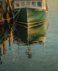Gulf Venture (SLEEC Photos/Suzanne) Tags: boat fishingboat marine dock harbor ocean capecod massachusetts provincetown reflection