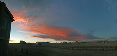 Fire Sunset_pano (rev) (northern_nights) Tags: pano panorama sunset skyfire firesky redskies clouds cheyenne wyoming