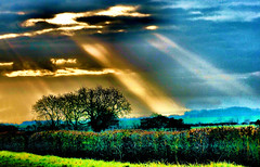 Jacob's ladder? (tina negus) Tags: walcot ray jacobsladder sun winter landscape sky sunbeam clouds