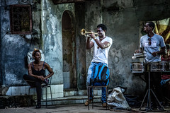 Trumpet Solo (priscellie) Tags: cuba cubacollection dancer dancers dancing afrocuban afrocaribbean caribbean athlete athletic passion energy art fineart political history color music performer performance performing havana lahabana centrohabana trumpet solo brass instrument