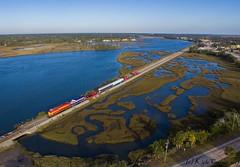 Dashing Through the Swamp (kcerrato1) Tags: florida east coast railroad railway toys for tots tft gevo st saint augustine