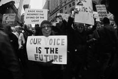 Voice (jonathanbriu) Tags: film protest nyc 16mm fisheye