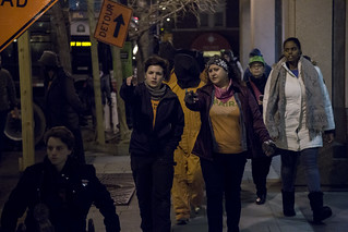 Chantal de Alcuaz and Chrissy Stonebraker-Martinez Lead an Anti-Torture March Outside the Presidential Inauguration of Donald Trump