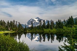 Mt Shuksan and its reflection