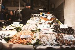 Banchi del pesce nei vicoli - Superbi. I genovesi e la loro città (Tiziano Caviglia) Tags: genova genoa liguria persone people crafts mestieri superbiigenovesielalorocittà streetphotography negozio shop sestieredelmolo pescivendolo fishmonger pesci fish
