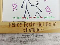 Cornice festa del Papà_02w (Morgana209) Tags: fathersday festadelpapà cornice portafoto legno pirografo handmade faidate pyrography regalo speciale dono bambini papà padre creatività pensierispeciali