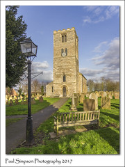 St Peter's, Newton on Trent, Lincolnshire (Paul Simpson Photography) Tags: stpeters church villagechurch lantern seat bench paulsimpsonphotography imagesof imageof photoof photosof churchtower lincolnshire newtonontrent narnia february2017 bluesky graves headstones westlindsey sonya77 shadows imageswithshadows