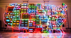 Electronic Superhighway (EDman0142) Tags: electronic superhighway national portrait gallery nam june paik art washington dc neon light