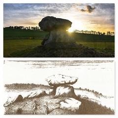 Then and now Devils Den (Le monde d'aujourd'hui) Tags: devilsden marlborough downs wiltshire landscape dolmein neolithic tomb sunset fyfielddown
