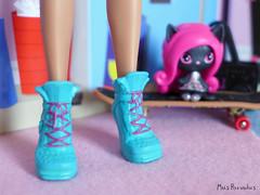 Dance Class Howleen - the shoes (Mus Parvulus) Tags: monsterhigh mh howleen danceclass ikeaspexa doll