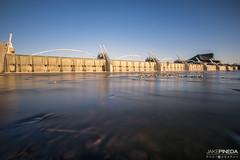 Tempe Town Lake Overflow (JAKE PINEDA) Tags: tempe town lake arizona center for arts az sunset waterfall long exposure lee filters big stopper 10 stop nikon d810 nikkor 1424 f28 landscape