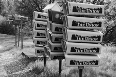 DSCF0843.jpg (RHMImages) Tags: mailboxes bw landscape monochrome newspapers theunion filmsimulation fuji blackandwhite nevadacounty acros pennvalley fujifilm x100f