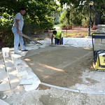 August 27 - Flagstones being placed