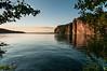 Sunset light on Bon Echo Rock, Mazinaw Lake,Cloyne, Ontario. (jaros 2(Ron)) Tags: cliff lake ontario canada water filter therock superwide mazinawlake ndgrad bonechoprovincialpark tokina111628 nikond300s lakemazina
