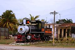 Steam locomotive in Marcelo Saldo (Caibarién) Cuba (lezumbalaberenjena) Tags: san juan remedios cuba villas villa clara steam vapor locomotora lezumbalaberenjena