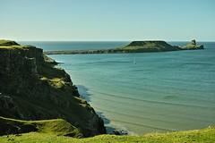 Rhossili... (DawnWarrior) Tags: sea cliff beauty island bay boat ship natural yacht head cove gulls sigma gower crow worms peninsula seabird causeway headland rhossili dawnwarrior