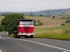 B692 DOE  Scania 112M   A59 Embsay (wheelsnwings2007/Mike) Tags: road run doe birch trans harrogate pennine services scania a59 embsay 2015 112m b692