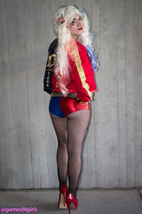 Harley Quinn - Suicide Squad (The Doppelganger) Tags: stockings highheels legs cosplay butt booty heels fishnets shorts cosplayer dccomics harleyquinn fishnetstockings supervillain suicidesquad nycc newyorkcomiccon nycc2015