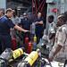 24/05/2013 La fragata 'Numancia' colabora en el adiestramiento de los guardacostas de Yibuti. Prácticas de material. Foto: MDE