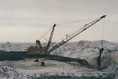 Open Cast Coal Mining in Saskatchewan (smokey pipes) Tags: canada saskatchewan coal stripmining opencast dragline