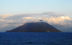 Stromboli Volcano (petrk747) Tags: voyage cruise sea vacation italy travelling nature clouds landscape island volcano holidays heaven outdoor stromboli aeolianislands tyrrheniansea
