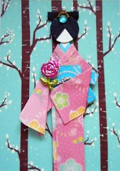 ATC1290 - A rose in winter (tengds) Tags: pink flowers blue trees winter brown snow rose atc artisttradingcard silver asian japanese kimono obi origamipaper bindi artcard papercraft japanesepaper ningyo handmadecard decorativepaper chiyogami asiandoll japanesepaperdoll indianbindi origamidoll kimonodoll tengds