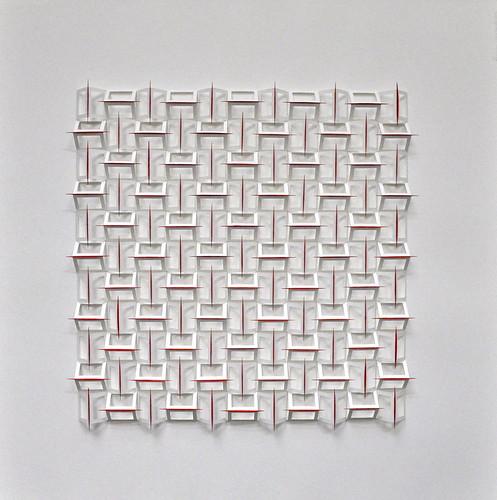 Herman Coppus papierreliëf 70x70cm